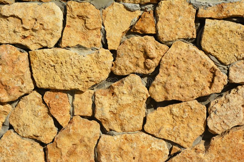 Wild shell limestone stone textured wall.  Natural textured background. Photo stock images