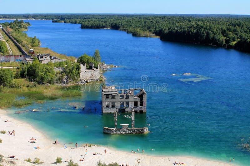 Wild strand in Estland stock afbeeldingen