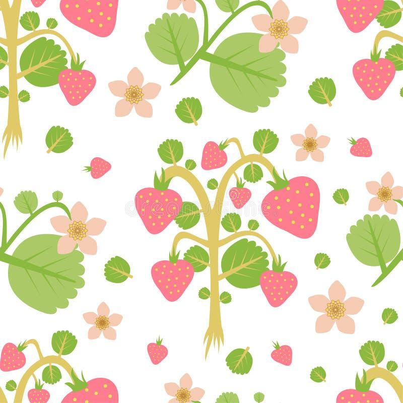 Wild strawberries stock illustration