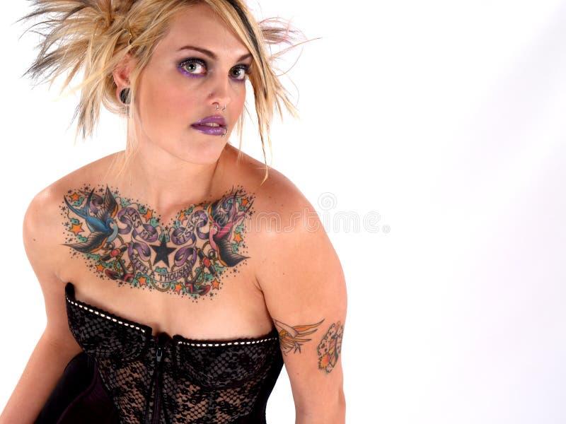Wild Tattooed Beauty royalty free stock photography