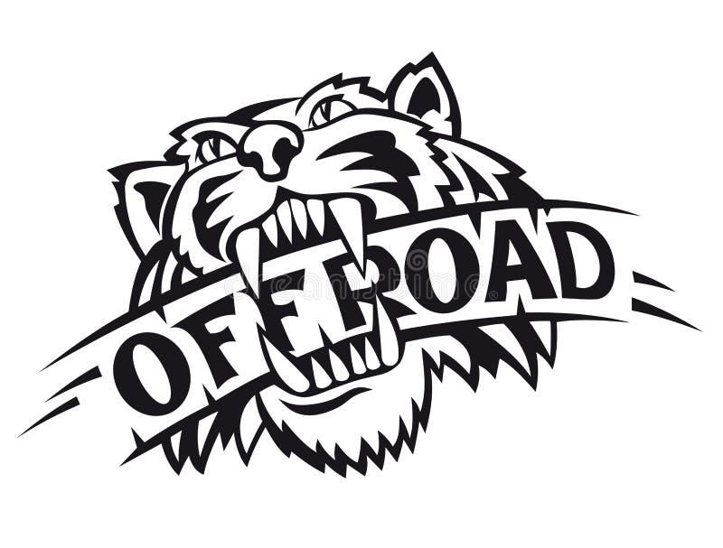wild tiger royaltyfri illustrationer