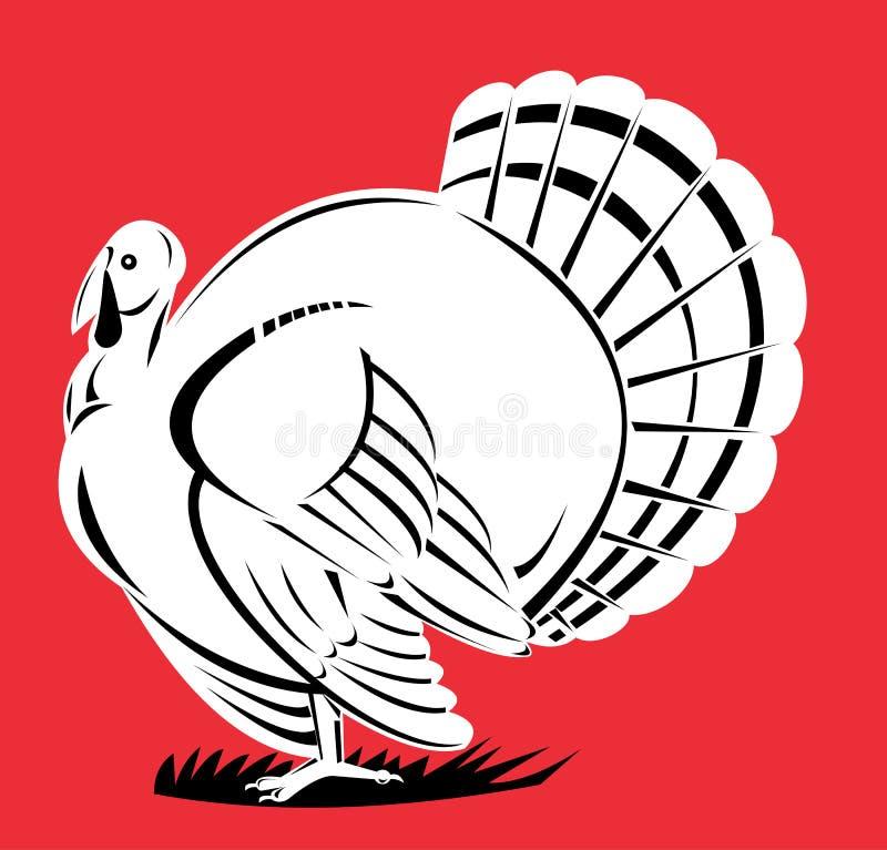 Wild Turkije royalty-vrije illustratie