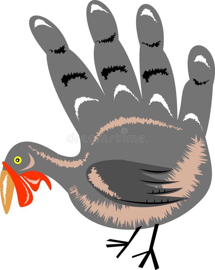 Wild Turkije vector illustratie