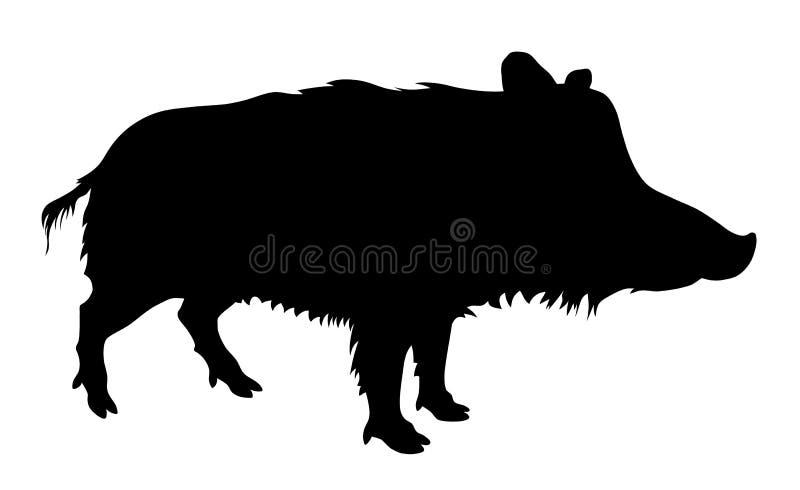 Wild varken stock illustratie
