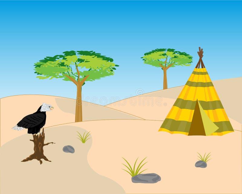 Wild verlaten terrein stock illustratie