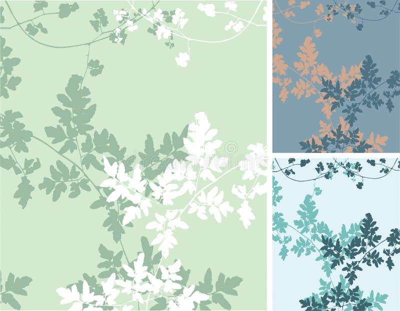 Wild Vines Background vector illustration
