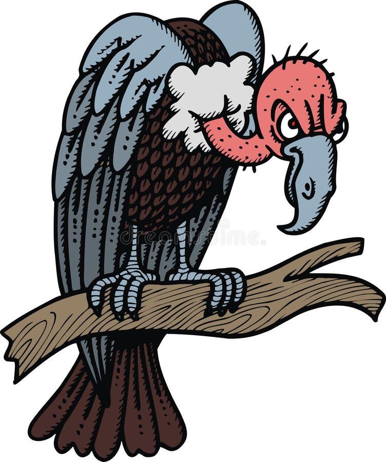 Wild vulture royalty free illustration
