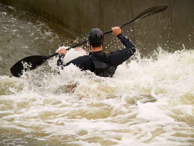 Wild water Canoe royalty free stock photos