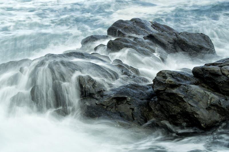 Wild water sea stock image