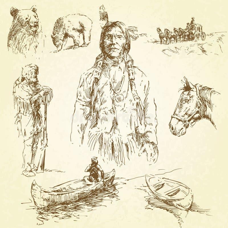 Download Wild west stock vector. Image of apache, cowboy, adventure - 23240074
