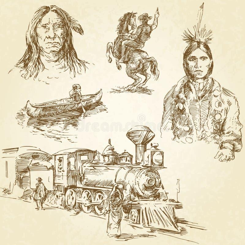 Wild west royalty free illustration