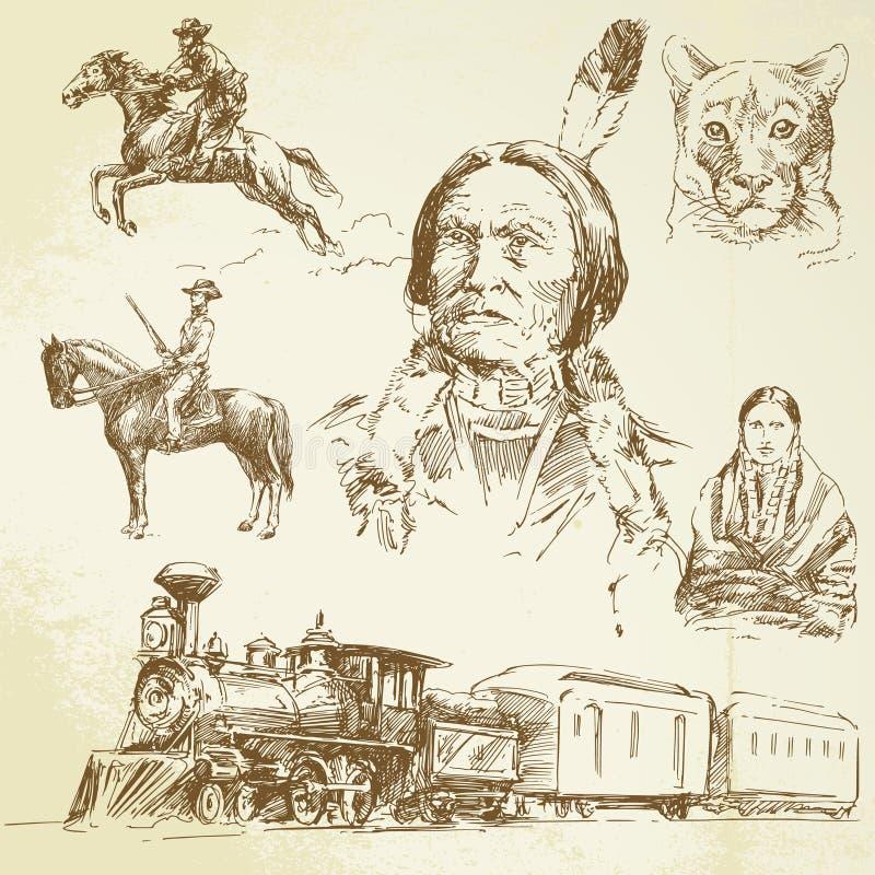 Wild west stock illustration