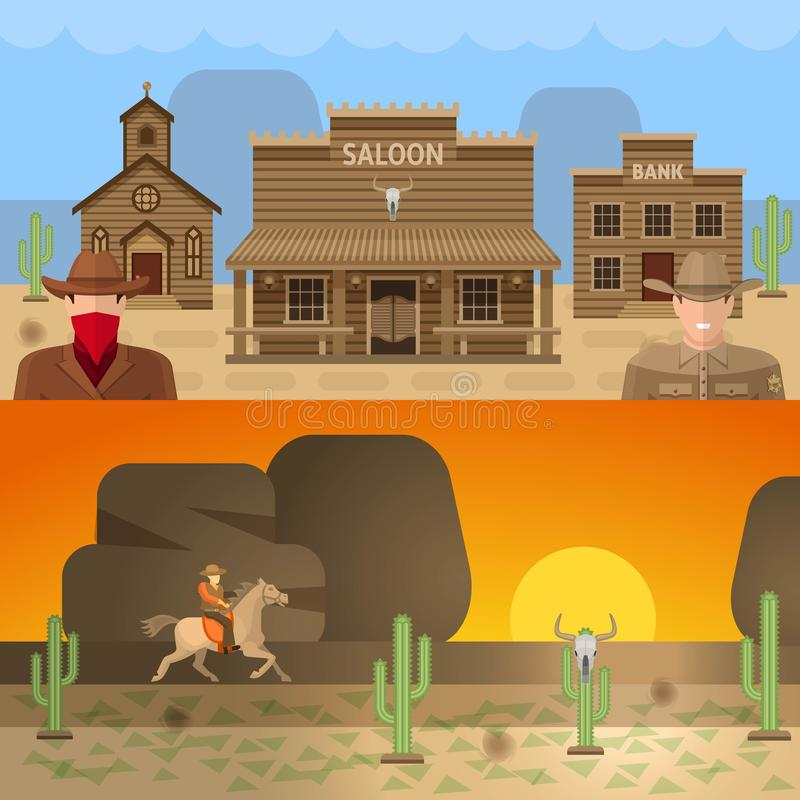 Free Wild West Colored Concepts Stock Photos - 77625503