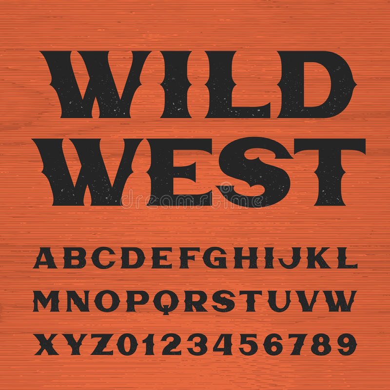 Download Wild West Font Vintage Style Alphabet Stock Vector