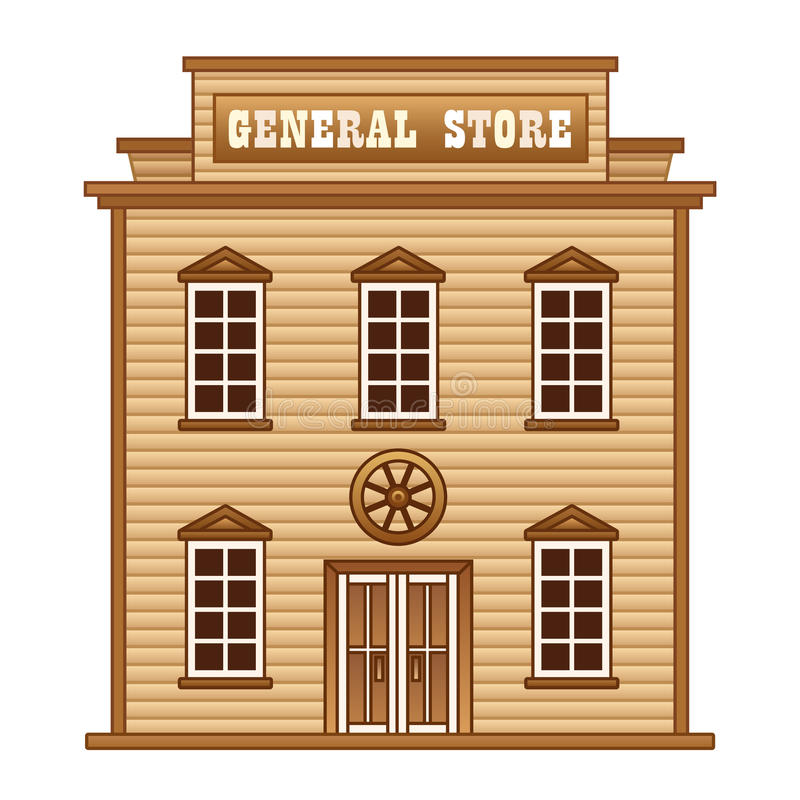 Wild West general store stock illustration