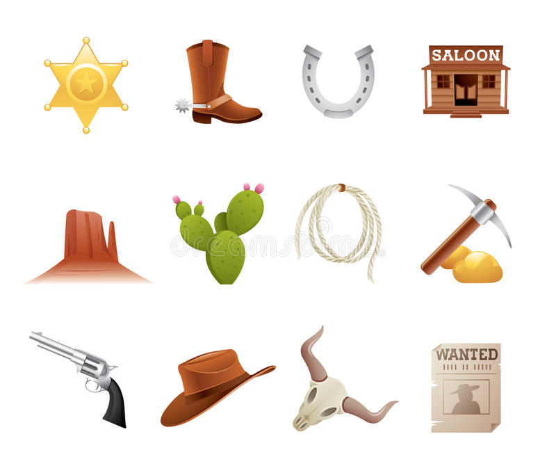 Download Wild West Icons Stock Photography - Image: 19729992