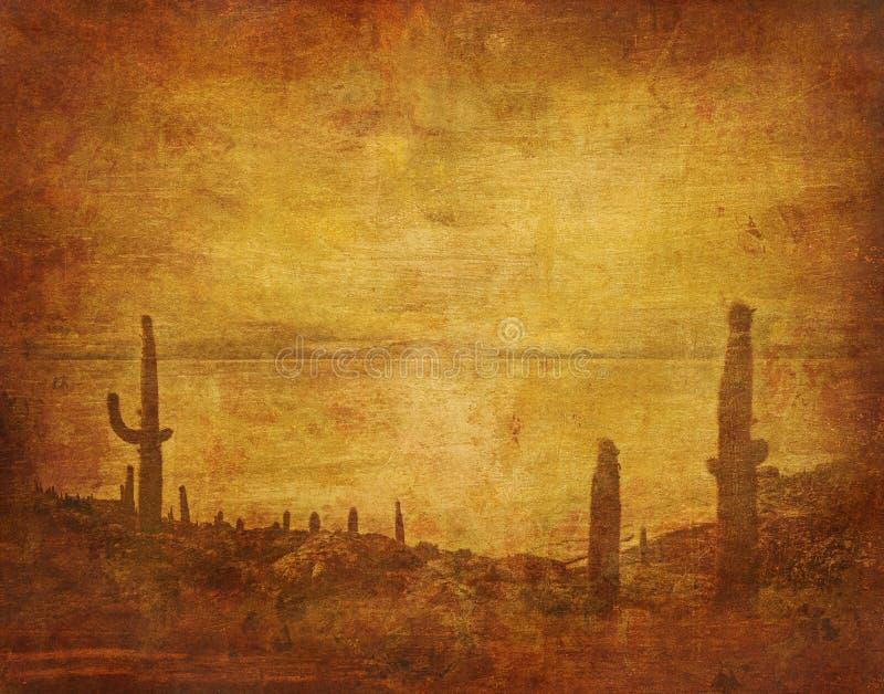Wild west landscape. Grunge background with wild west landscape