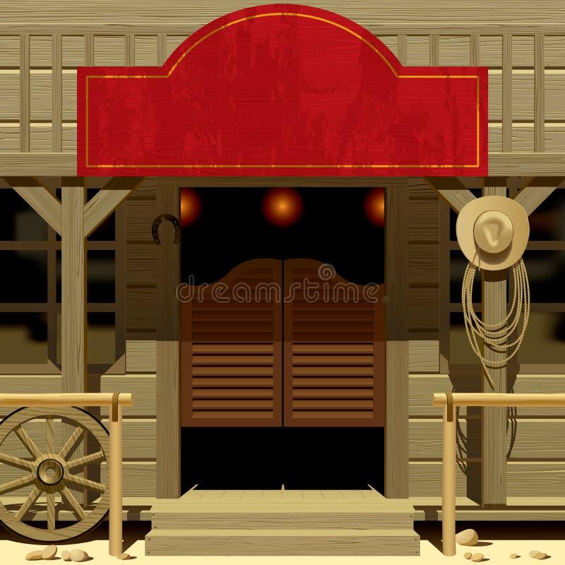 Wild West Saloon vector illustration