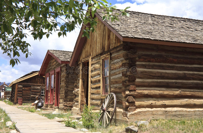 Wild west town buildings stock photos