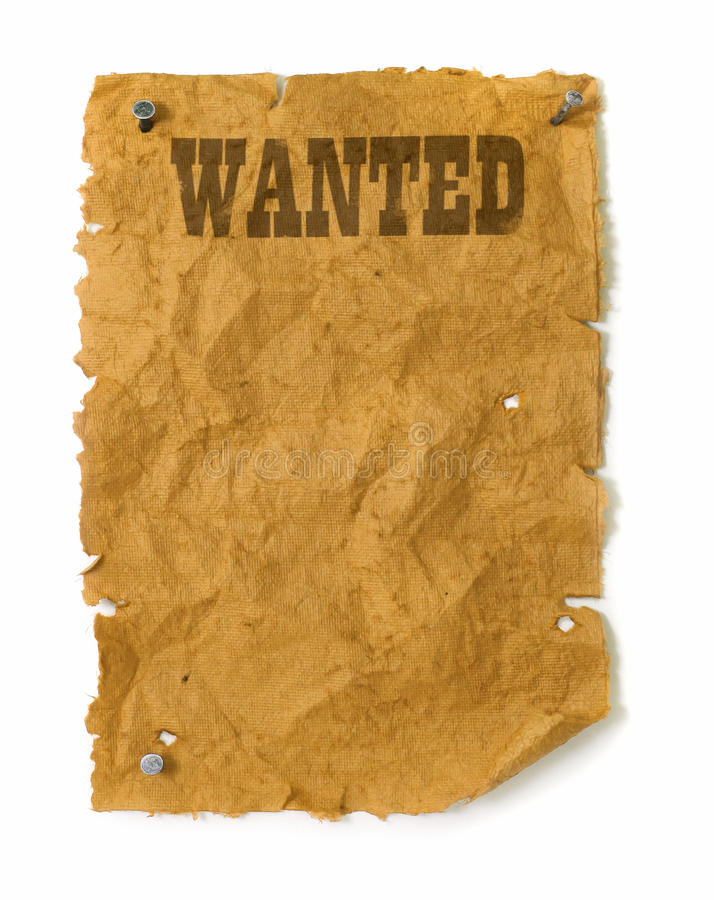 Wild west Wanted poster stock photos
