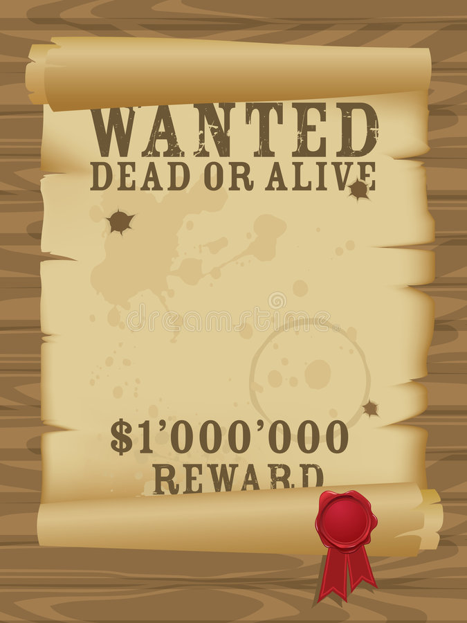 Download Wild West Wanted Poster Royalty Free Stock Photo - Image: 8122845