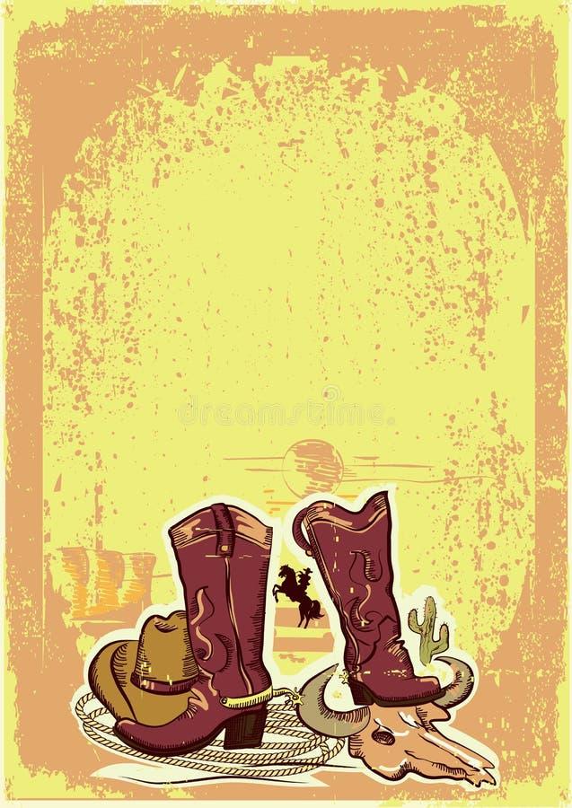 Wild western background royalty free illustration