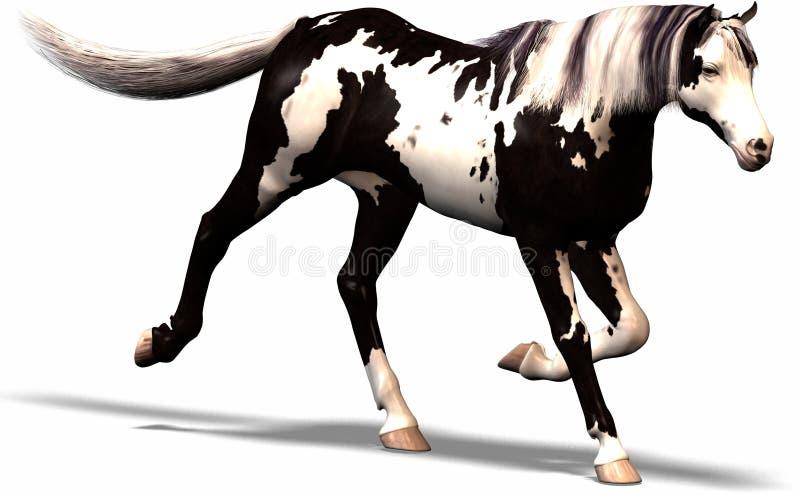 Wild wild paard royalty-vrije illustratie