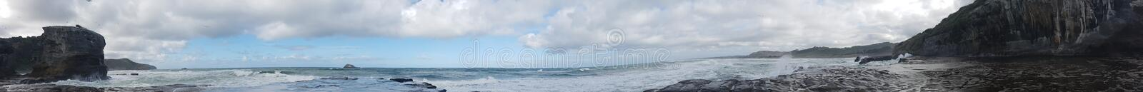 Wild wild west white wash waves panoramic royalty free stock photo