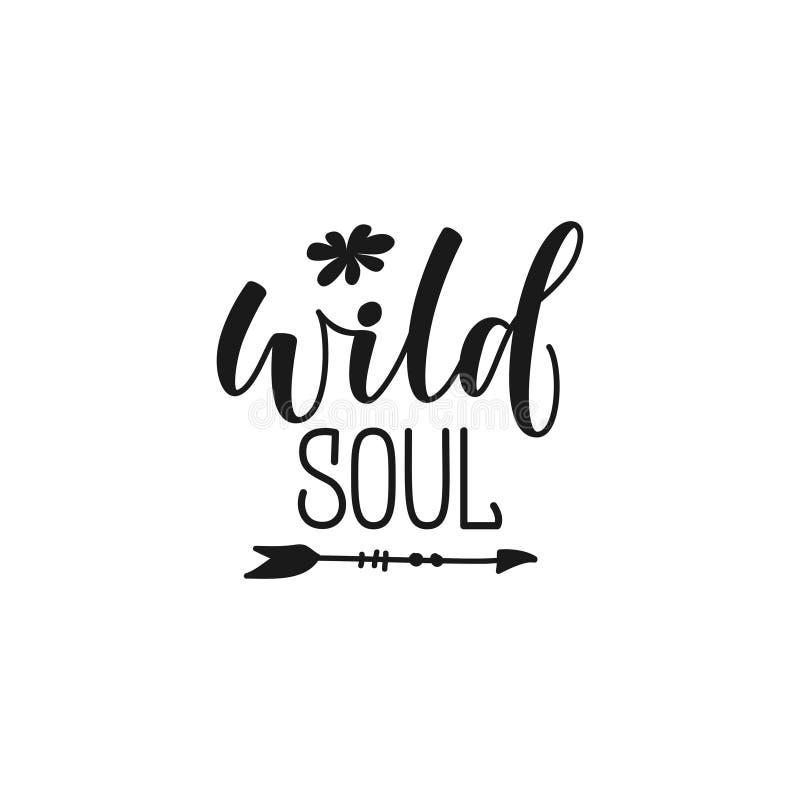 Wild ziel het van letters voorzien ontwerphand getrokken motivatie het van letters voorzien citaat Ontwerpelement voor druk, affi stock illustratie