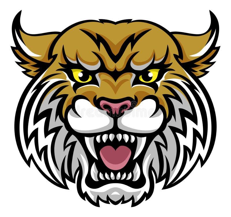 Wildcat Bobcat Mascot royalty free illustration