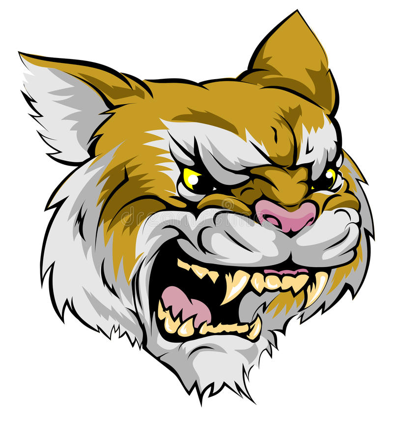 Free Wildcat Mascot Character Royalty Free Stock Photo - 41784905