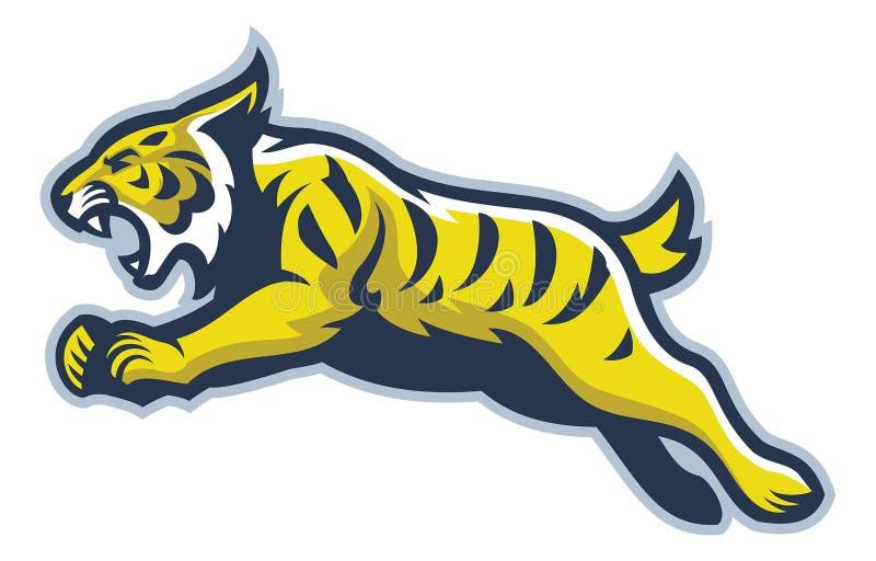 Wildcat mascot royalty free illustration