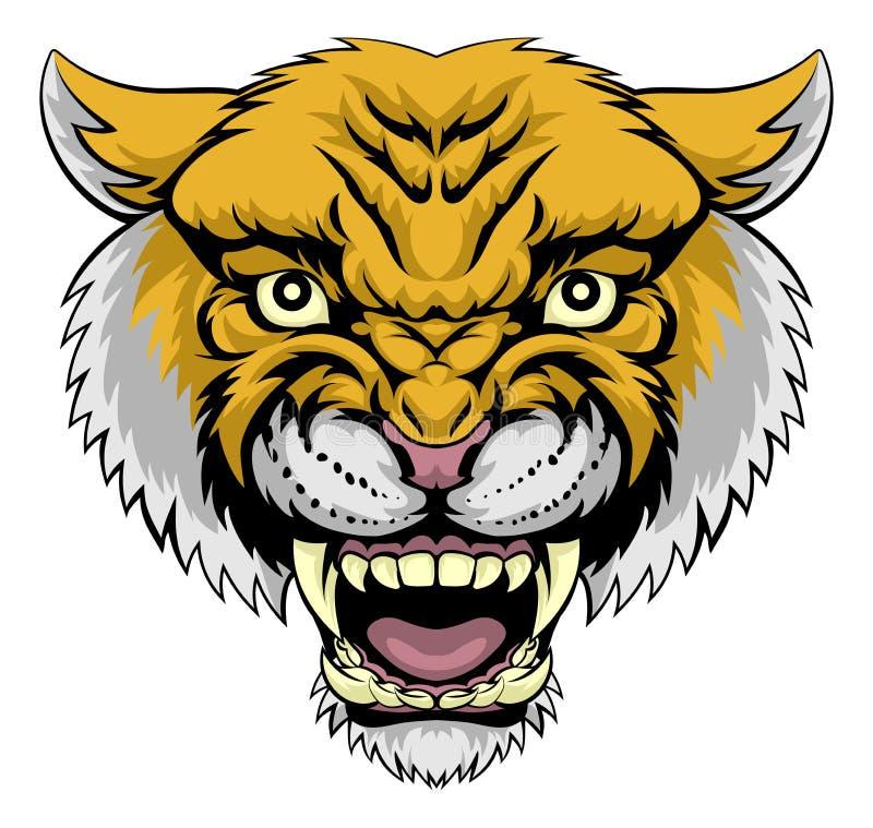 Wildcat Mountain Lion vector illustration