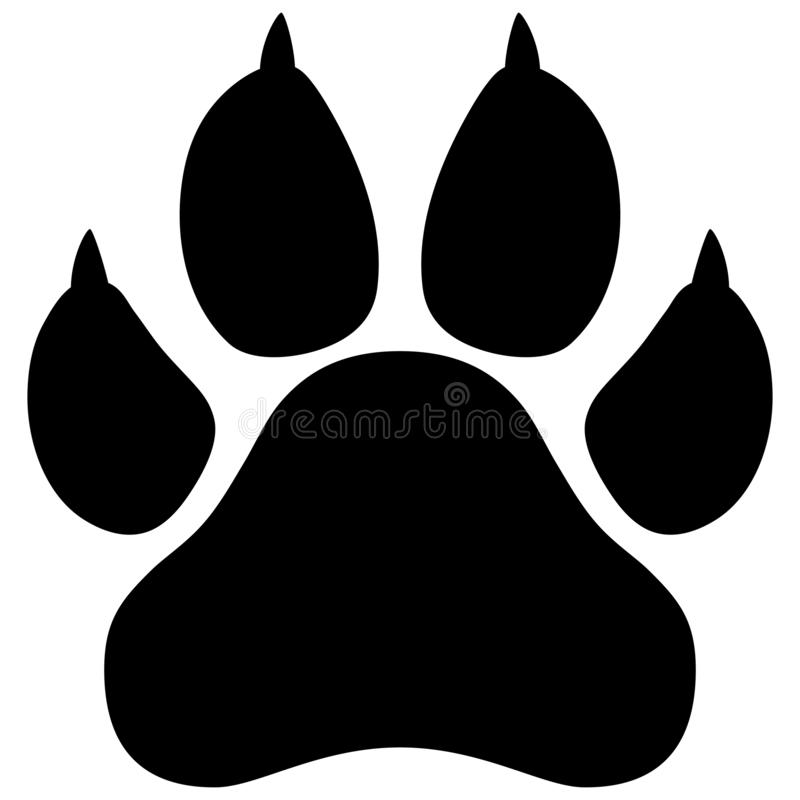 Free Wildcat Paw Print Vector Illustration Royalty Free Stock Photos - 144585168