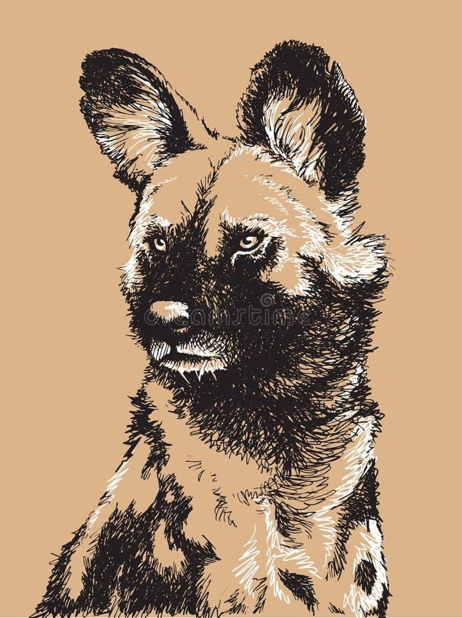 Wild Dog Illustration vector illustration