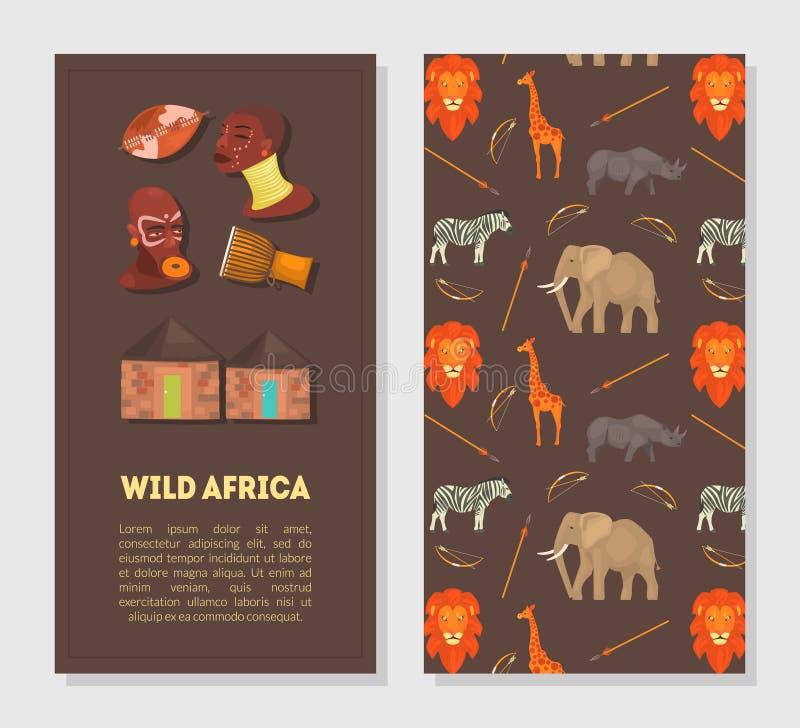 wilde tiere in der afrikaabbildung vektor abbildung