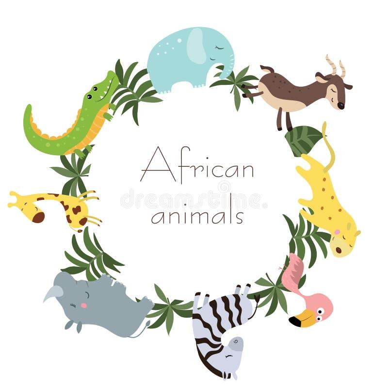 Wilde Afrikaanse dieren royalty-vrije illustratie