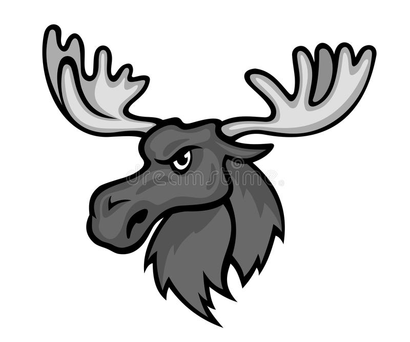 Wilde Amerikaanse elanden vector illustratie