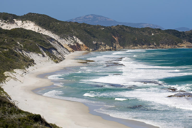 Wilde Australische kustlijn royalty-vrije stock foto's