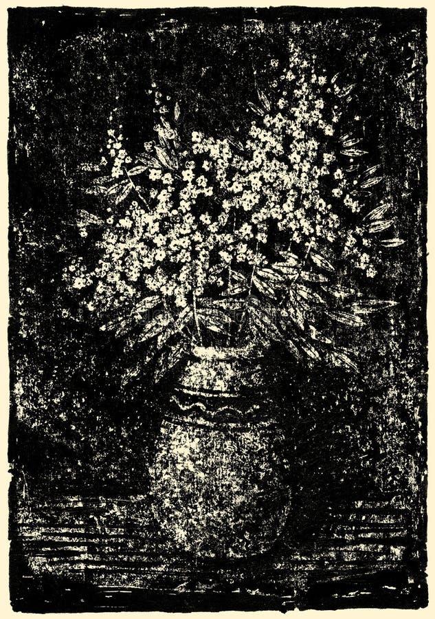 Wilde Blumen in einem Vase stock abbildung
