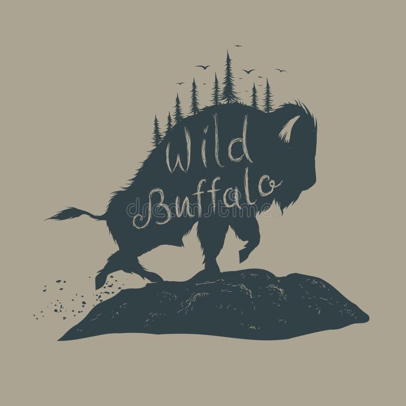 Wilde Buffels vector illustratie