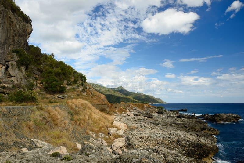Wilde Cubaanse kust in Cuba stock afbeelding