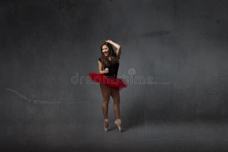 Wilde dans voor een classcial ballerina stock afbeelding