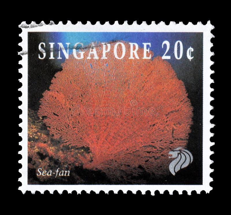 Wilde dieren op postzegels stock foto