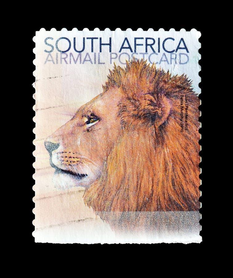 Wilde dieren op postzegels royalty-vrije stock fotografie