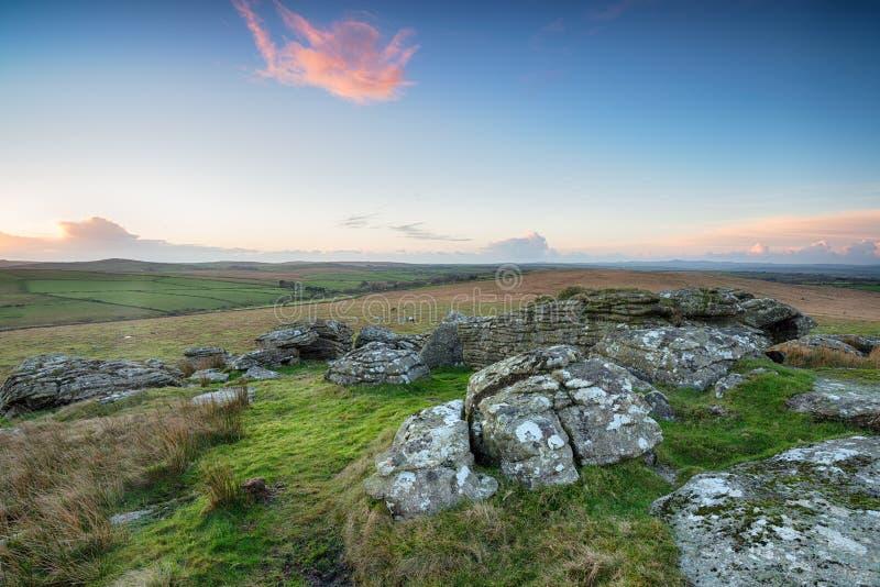 Wilde Heide in Cornwall royalty-vrije stock foto's