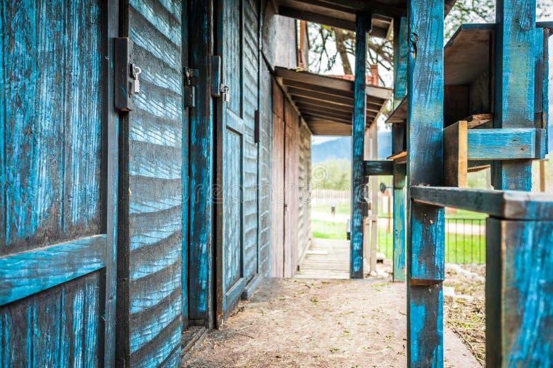 Wilde het westen houten gebouwen stock afbeelding