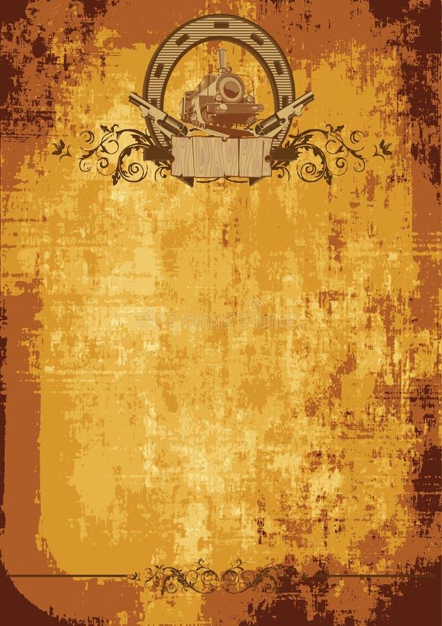 Wilde het westenaffiche vector illustratie