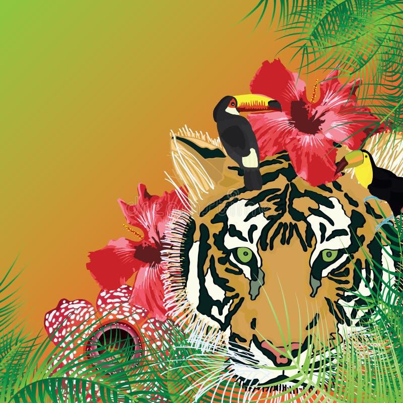 Wilde koele tropisch stock illustratie