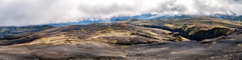 Wilde Landschaft Wanderung Islands Landmannalaugar stockbild